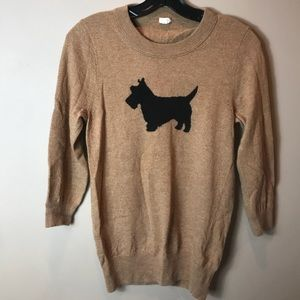 J Crew Sz M Scottie Dog Sweater